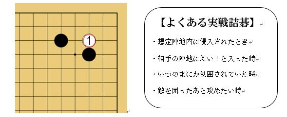 「囲碁死活上達法」解説画像