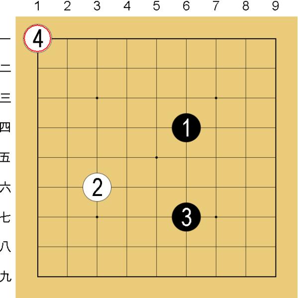 囲碁のルール2:一手ずつ交互に打つ