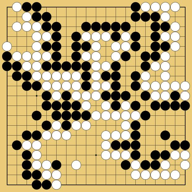 囲碁の終局図