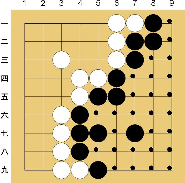囲碁9路盤の打ち方(終局)