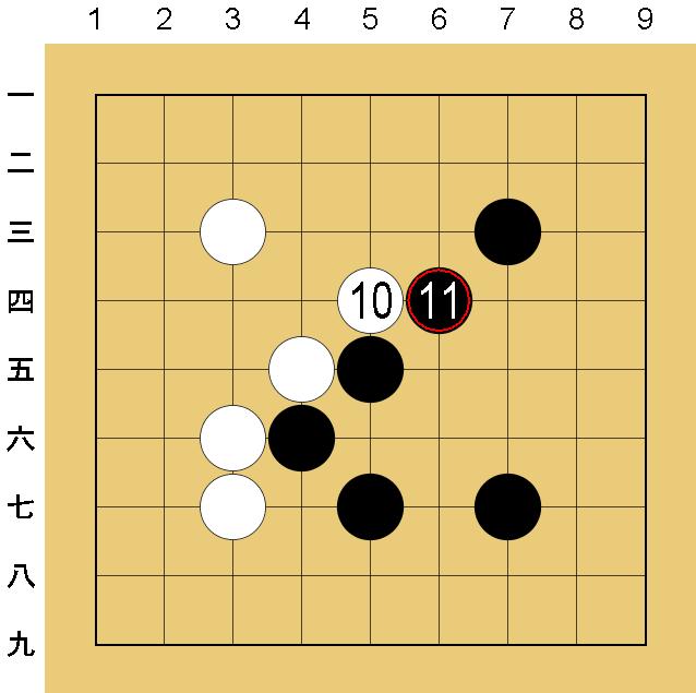 囲碁9路盤の打ち方(序盤)