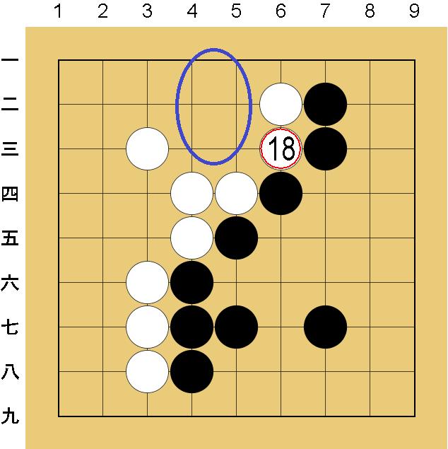 囲碁9路盤の打ち方(終盤)