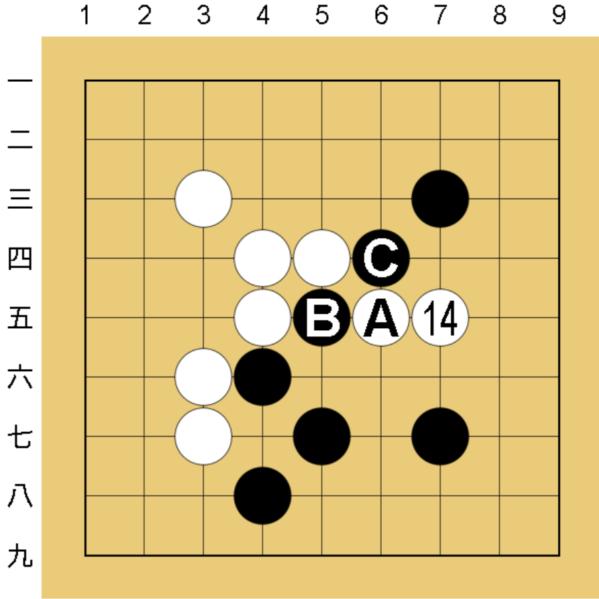 囲碁コンピューター(COSUMI)の無理手の狙い