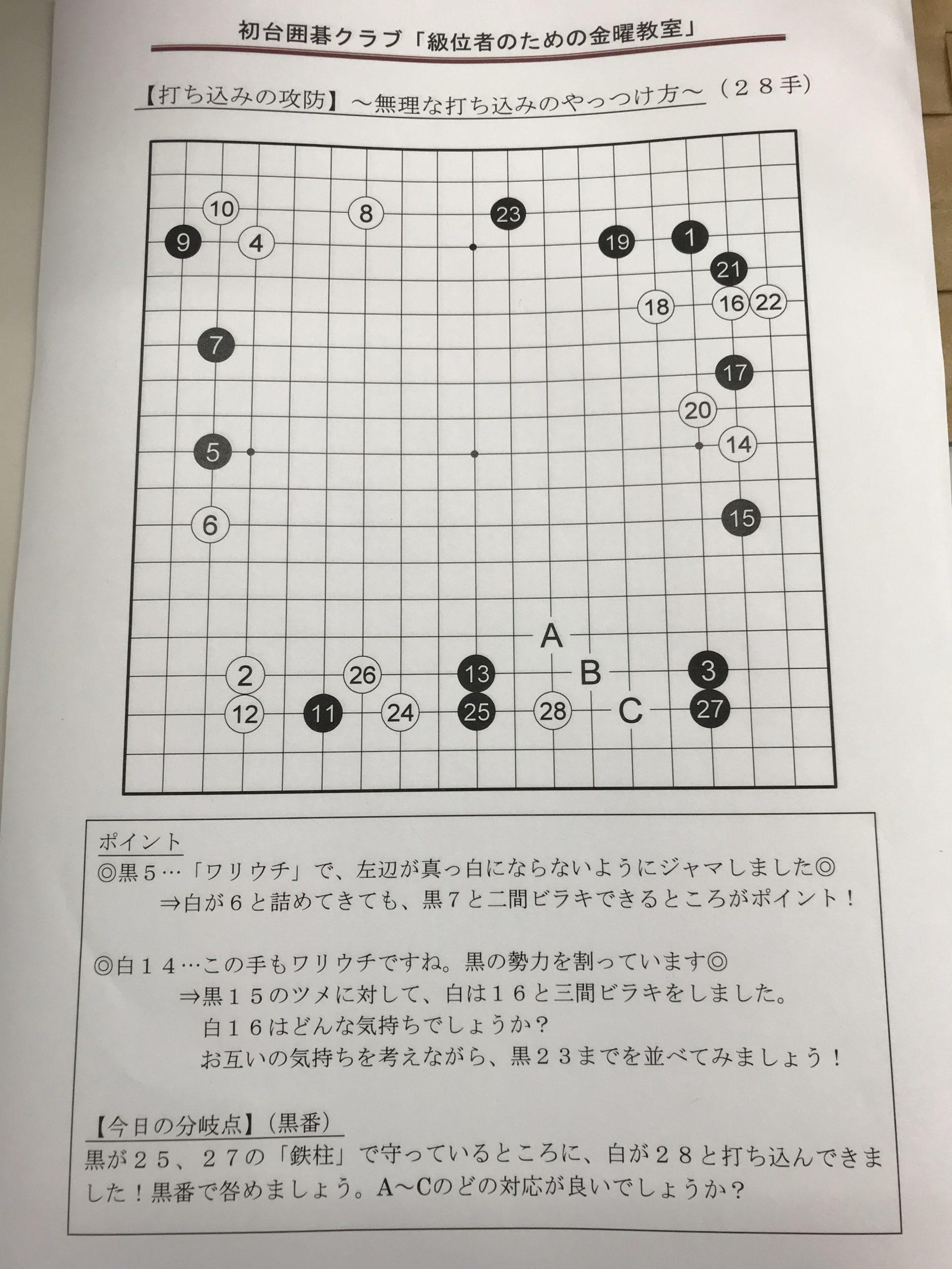 金曜教室の解説用棋譜