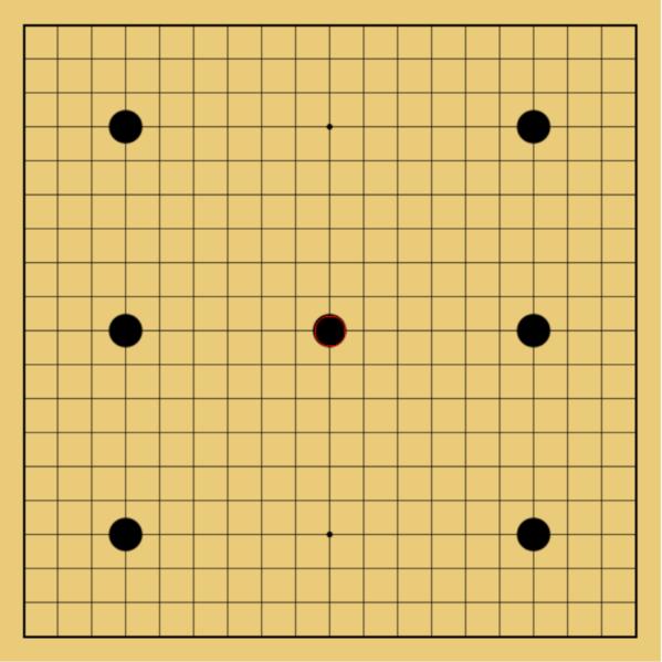 囲碁の7子局
